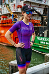 Women's Glitch Sleeved Tri Suit