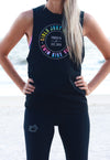 Girls Just Wanna Swim Bike Run Power Tank