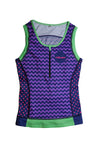 Women's Electro Rhapsody Zip Front Tri Top