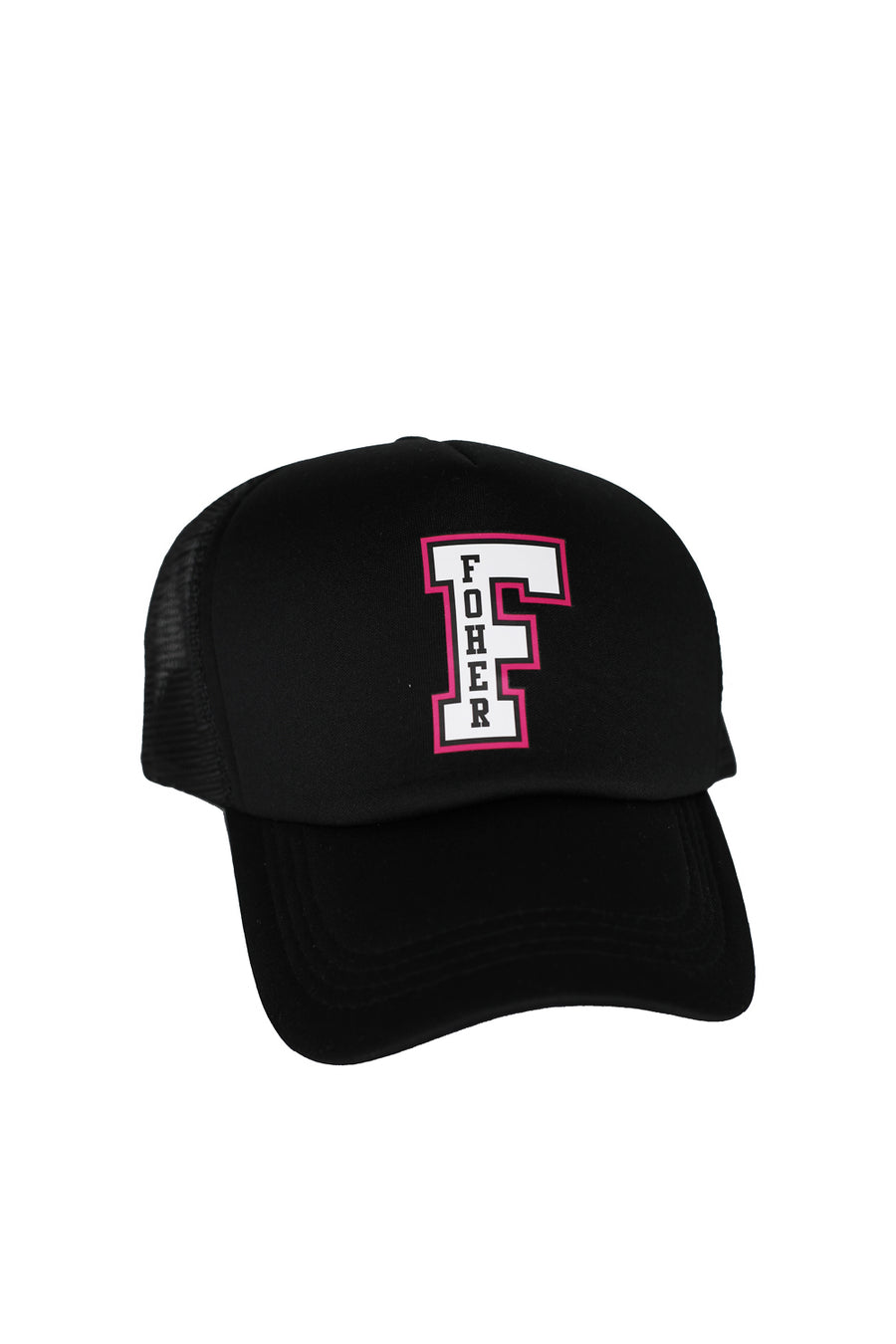 FOHER Co Black F-Logo Trucker