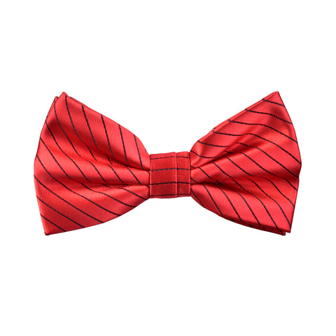 Lined Isaac Bow Tie in Red - Giorgio Mandelli® Official Site | GIORGIO MANDELLI Made in Italy