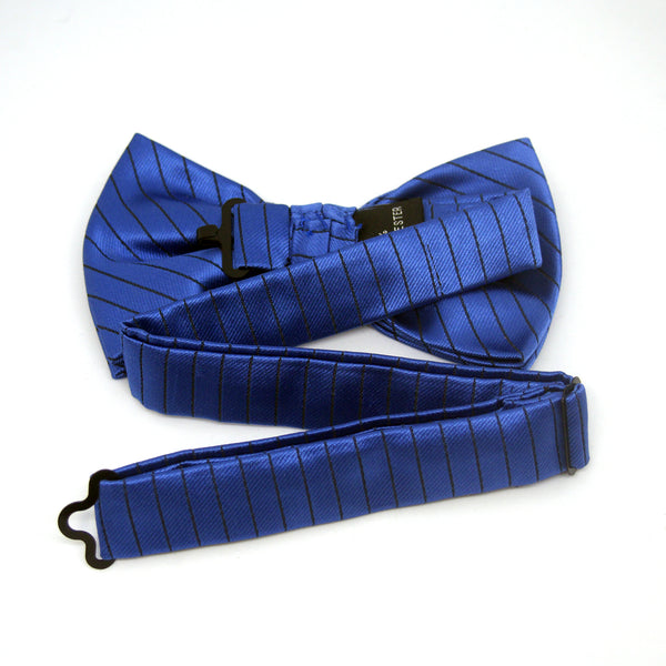 Lined Isaac Bow Tie in Cobalt Blue - Giorgio Mandelli® Official Site | GIORGIO MANDELLI Made in Italy
