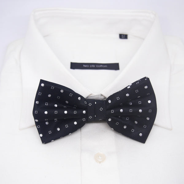 Printed Brandon Bow Tie in Black - Giorgio Mandelli® Official Site | GIORGIO MANDELLI Made in Italy