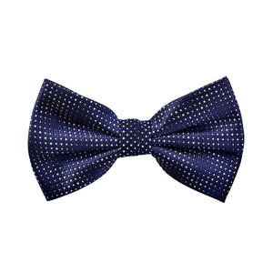 Printed Kingston Bow Tie in Navy Blue - Giorgio Mandelli® Official Site | GIORGIO MANDELLI Made in Italy