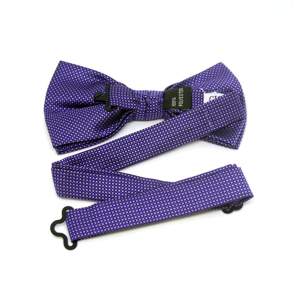 Textured Robin Bow Tie in Purple - Giorgio Mandelli® Official Site | GIORGIO MANDELLI Made in Italy