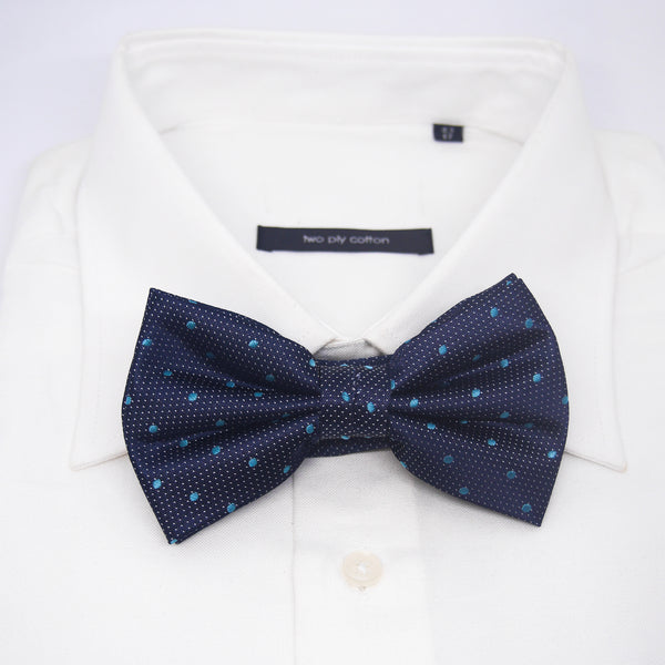 Spotted Marley Bow Tie in Baby Blue - Giorgio Mandelli® Official Site | GIORGIO MANDELLI Made in Italy