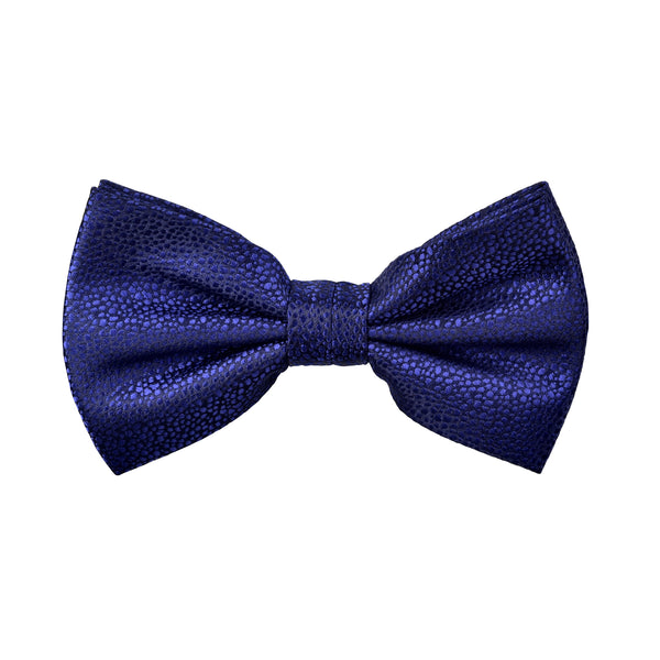 Textured Damon Bow Tie in Navy Blue Reptile - Giorgio Mandelli® Official Site | GIORGIO MANDELLI Made in Italy