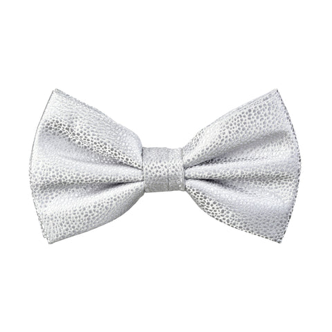 Textured Damon Bow Tie in Silver Reptile - Giorgio Mandelli® Official Site | GIORGIO MANDELLI Made in Italy