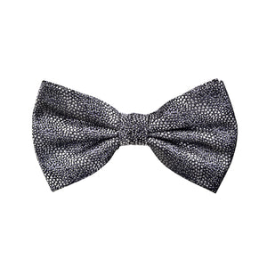 Textured Damon Bow Tie in Grey Reptile - Giorgio Mandelli® Official Site | GIORGIO MANDELLI Made in Italy