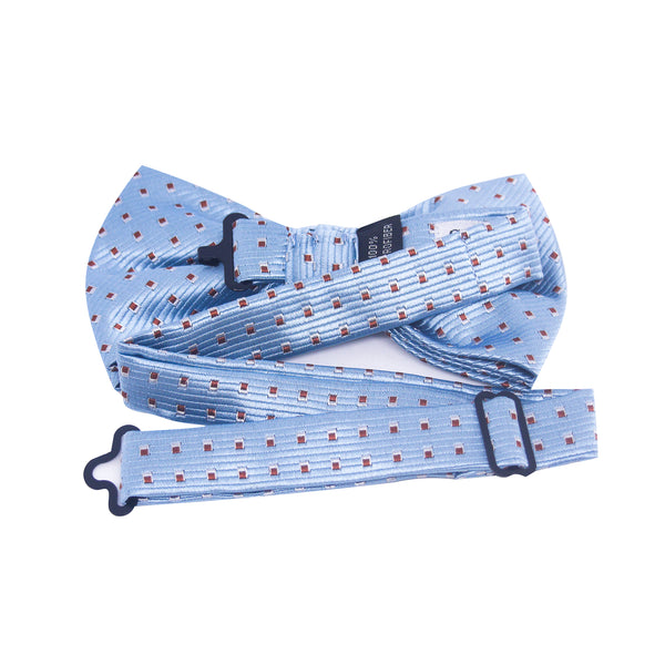 Spotted Selby Bow Tie in Baby Blue - Giorgio Mandelli® Official Site | GIORGIO MANDELLI Made in Italy