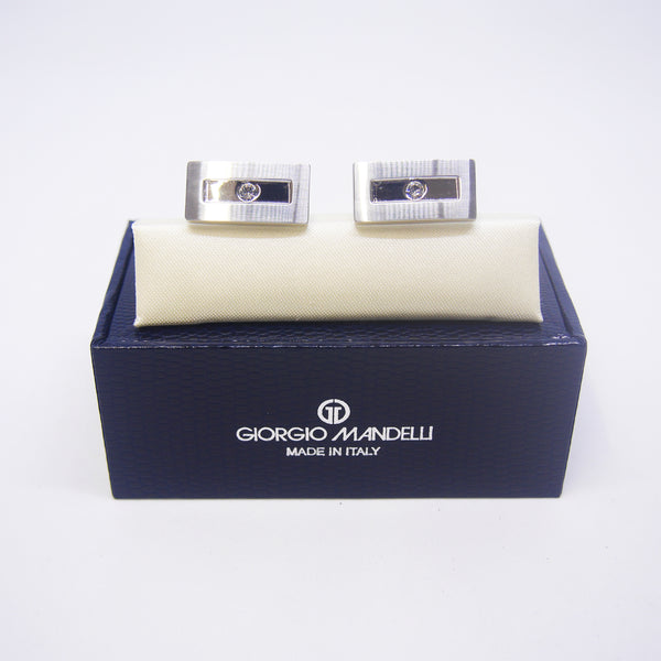 Jeremiah Cufflinks with Clear Crystal - Giorgio Mandelli® Official Site | GIORGIO MANDELLI Made in Italy