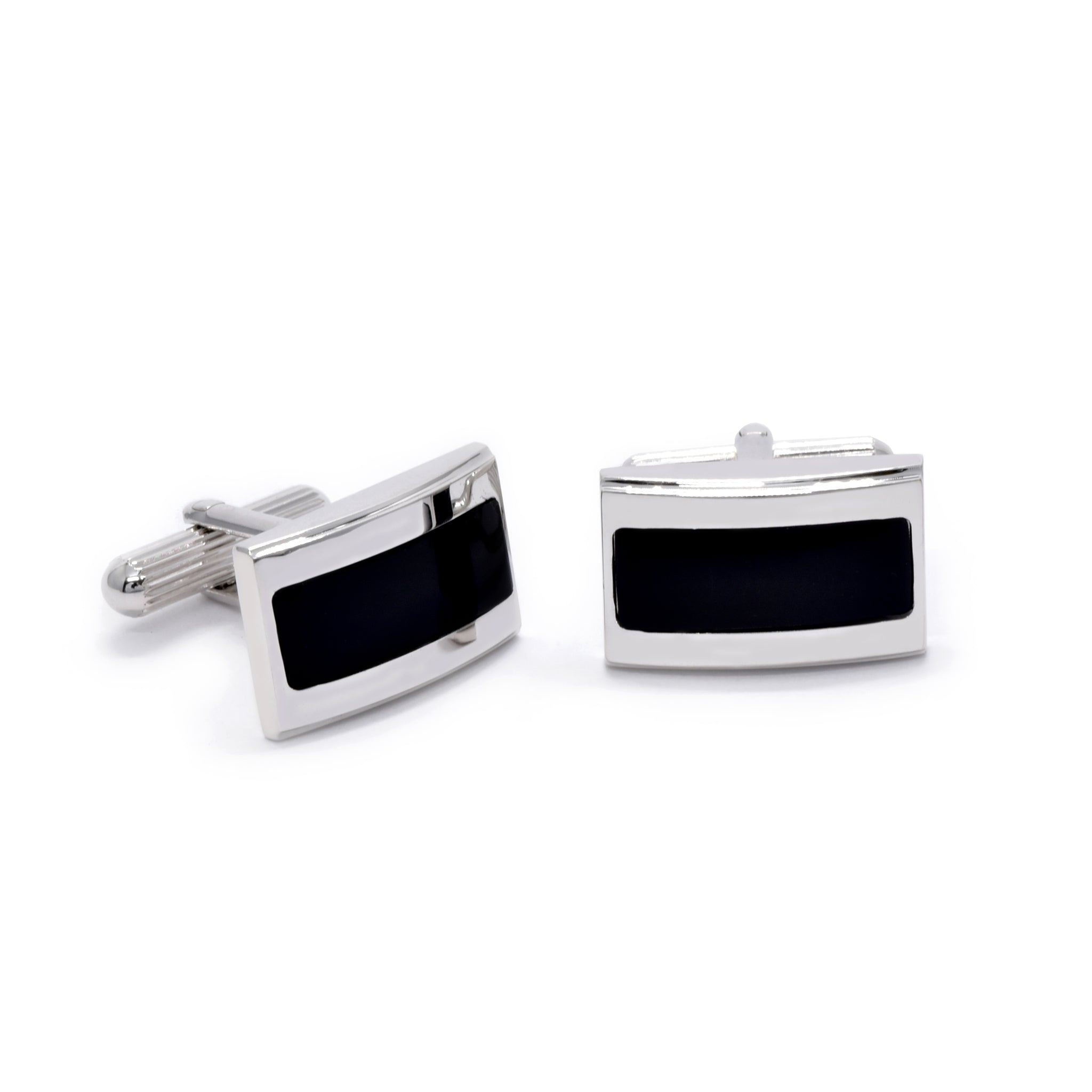 Josiah Cufflinks with Black Onyx - Giorgio Mandelli® Official Site | GIORGIO MANDELLI Made in Italy