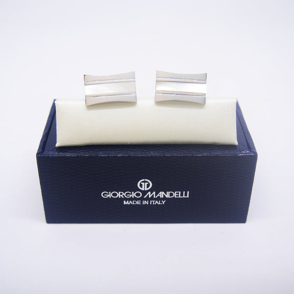 Josiah Cufflinks with Mother of Pearl - Giorgio Mandelli® Official Site | GIORGIO MANDELLI Made in Italy