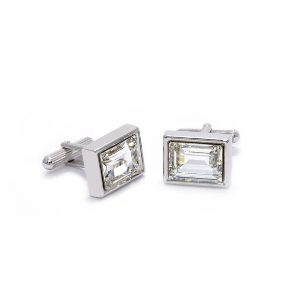 Ash Cufflinks with Clear Crystal - Giorgio Mandelli® Official Site | GIORGIO MANDELLI Made in Italy