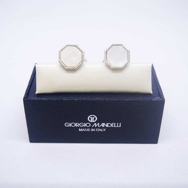 Ethan Cufflinks with Mother of Pearl - Giorgio Mandelli® Official Site | GIORGIO MANDELLI Made in Italy