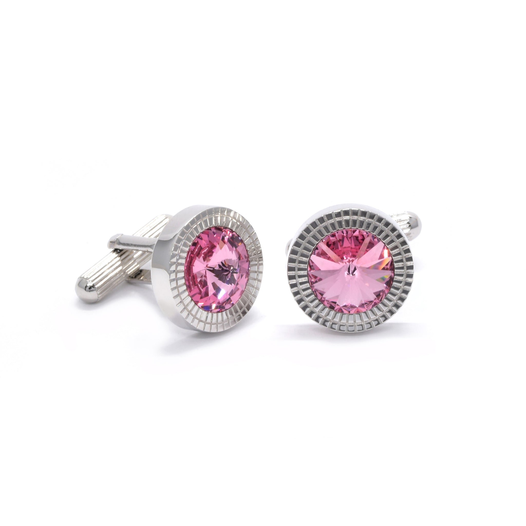 William Cufflinks with Pink Crystal - Giorgio Mandelli® Official Site | GIORGIO MANDELLI Made in Italy
