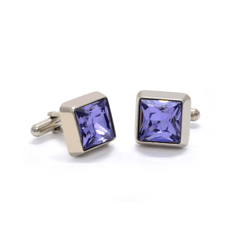 Dominic Cufflinks with Moody Blue Crystal - Giorgio Mandelli® Official Site | GIORGIO MANDELLI Made in Italy