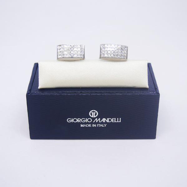 Velden Cufflinks in Clear White - Giorgio Mandelli® Official Site | GIORGIO MANDELLI Made in Italy