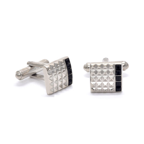 Matthew Cufflinks with Black Crystal - Giorgio Mandelli® Official Site | GIORGIO MANDELLI Made in Italy