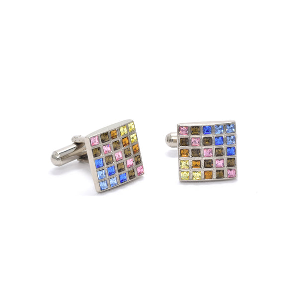 Elon Cufflinks in Rainbow - Giorgio Mandelli® Official Site | GIORGIO MANDELLI Made in Italy