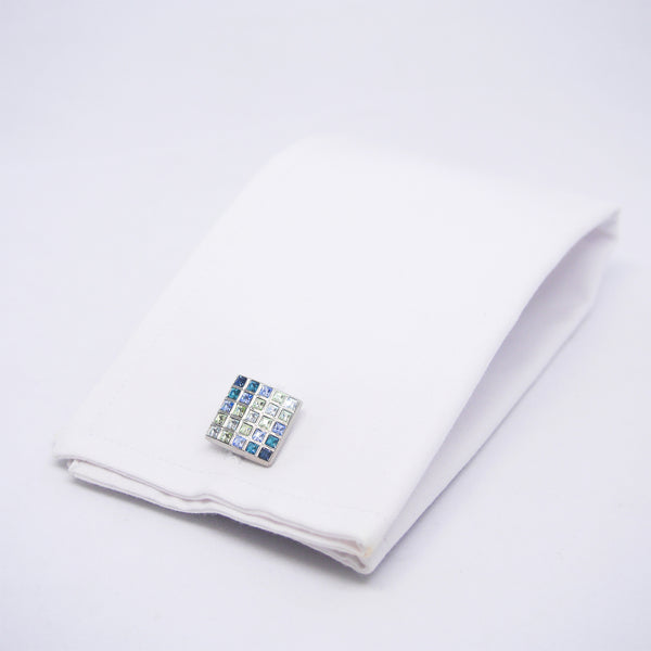 Elon Cufflinks in Shades of Blue - Giorgio Mandelli® Official Site | GIORGIO MANDELLI Made in Italy