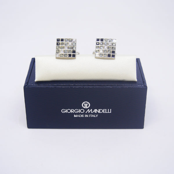 Elon Cufflinks in Shades of Grey - Giorgio Mandelli® Official Site | GIORGIO MANDELLI Made in Italy