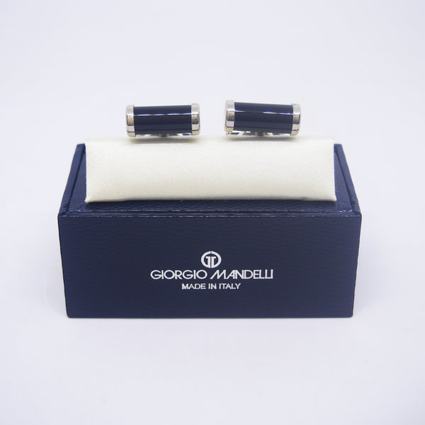 Noah Cufflinks with Black Onyx - Giorgio Mandelli® Official Site | GIORGIO MANDELLI Made in Italy