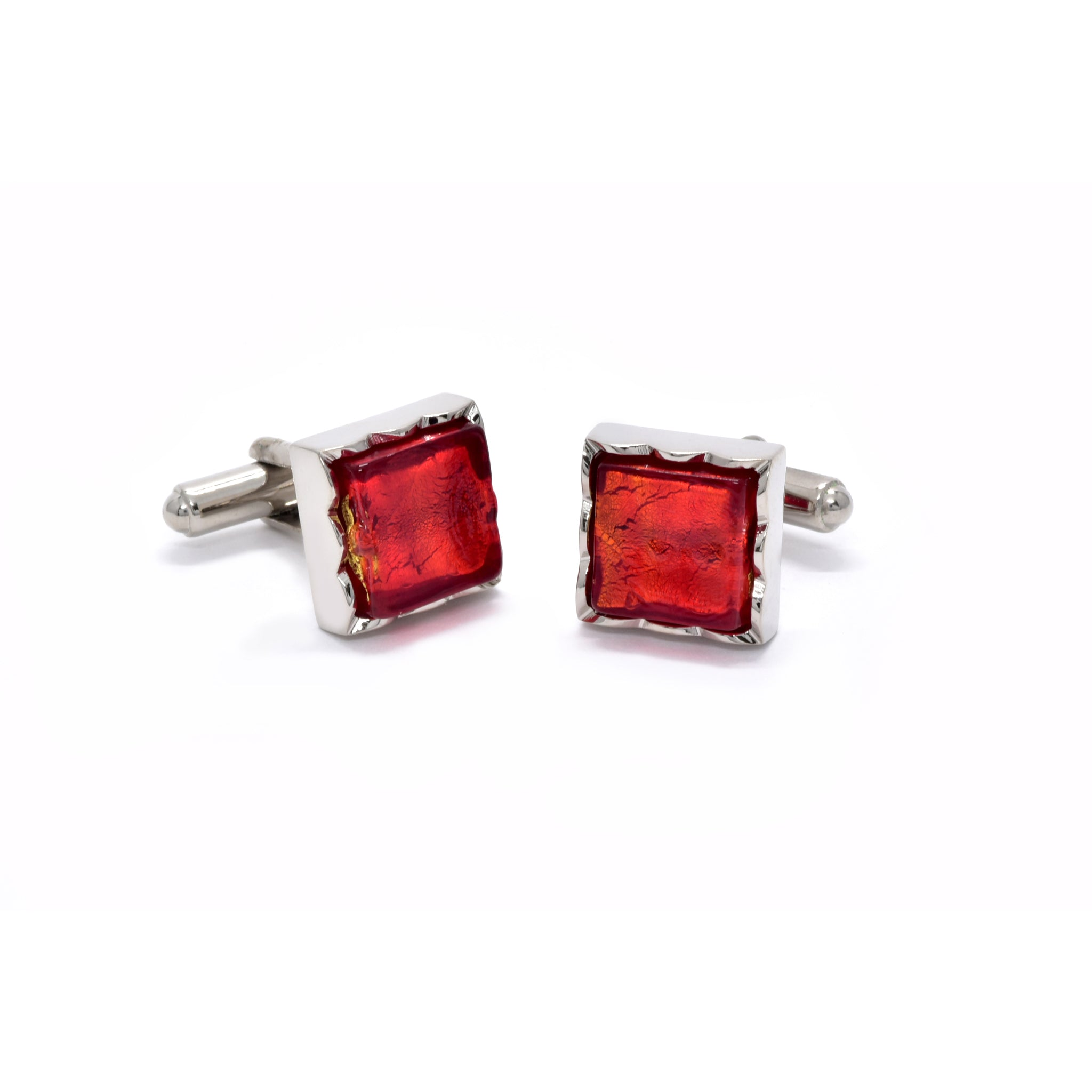 Jacob Cufflinks with Red Murano Glass - Giorgio Mandelli® Official Site | GIORGIO MANDELLI Made in Italy