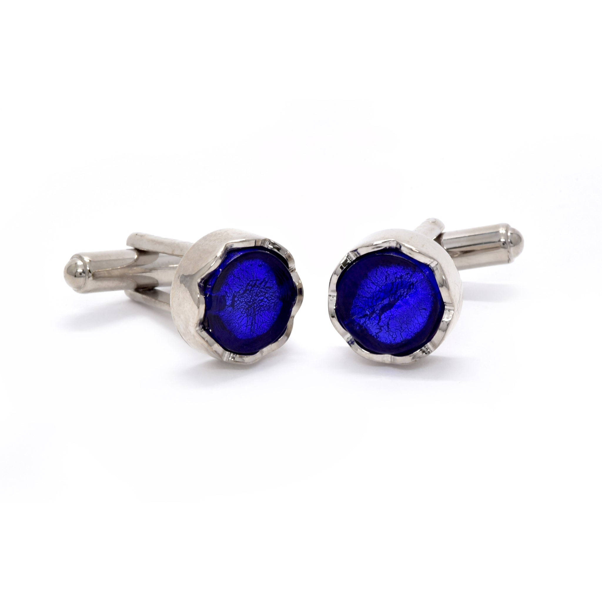 Sebastian Cufflinks in Blue - Giorgio Mandelli® Official Site | GIORGIO MANDELLI Made in Italy