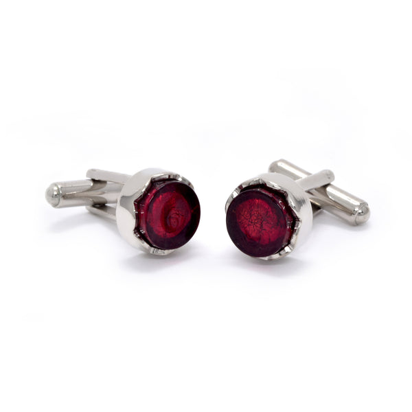 Sebastian Cufflinks in Ruby - Giorgio Mandelli® Official Site | GIORGIO MANDELLI Made in Italy