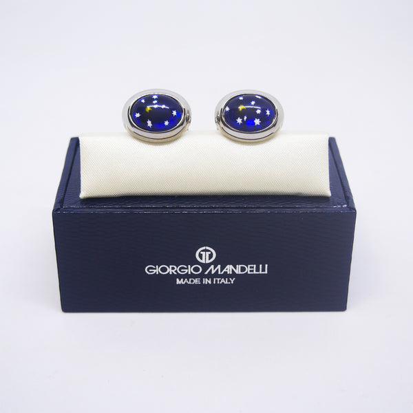 Ventura Cufflinks in Starry Night - Giorgio Mandelli® Official Site | GIORGIO MANDELLI Made in Italy