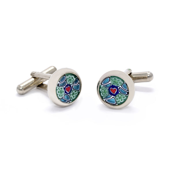 Valentino Cufflinks in Heart Murrine - Giorgio Mandelli® Official Site | GIORGIO MANDELLI Made in Italy
