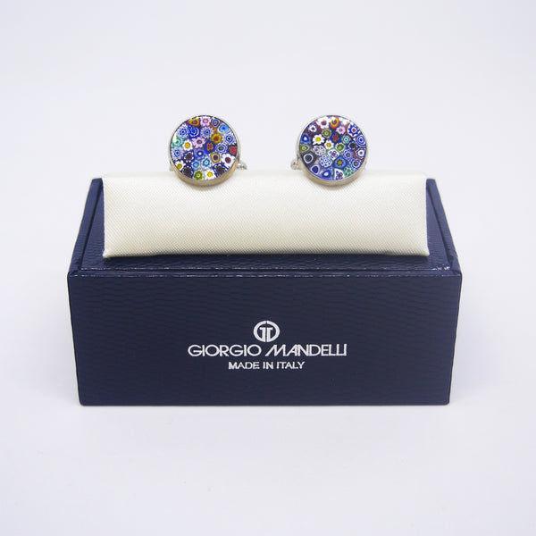 Vincenzo Cufflinks in Multicolour Millefiori - Giorgio Mandelli® Official Site | GIORGIO MANDELLI Made in Italy