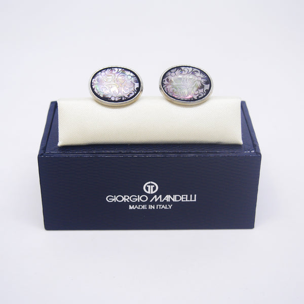 Sylvester Cufflinks with Black Shell - Giorgio Mandelli® Official Site | GIORGIO MANDELLI Made in Italy
