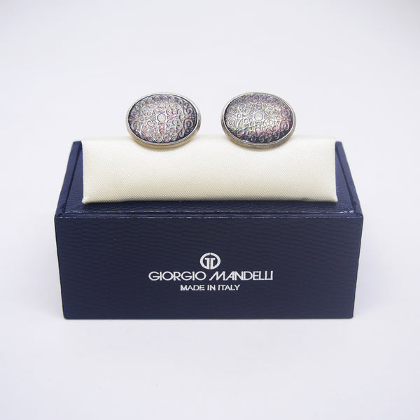 Anthony Cufflinks with Black Shell - Giorgio Mandelli® Official Site | GIORGIO MANDELLI Made in Italy