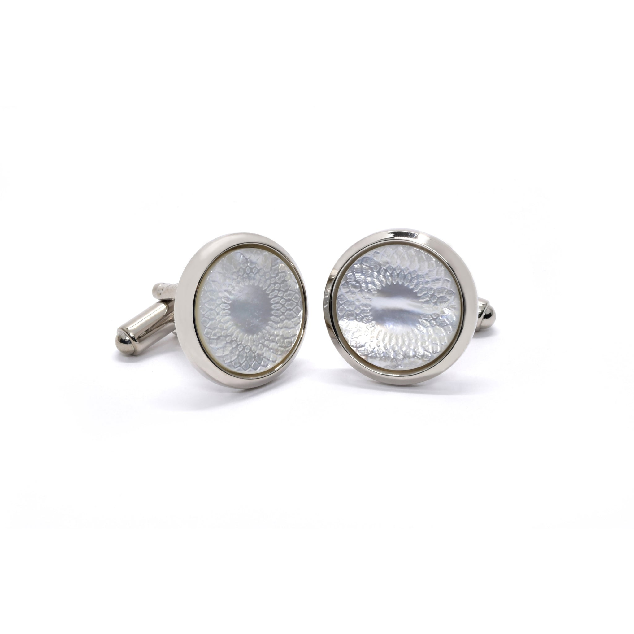 Jerome Cufflinks with Mother of Pearl - Giorgio Mandelli® Official Site | GIORGIO MANDELLI Made in Italy