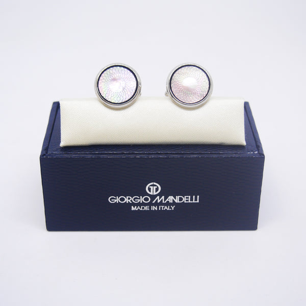 Jerome Cufflinks with Black Shell - Giorgio Mandelli® Official Site | GIORGIO MANDELLI Made in Italy