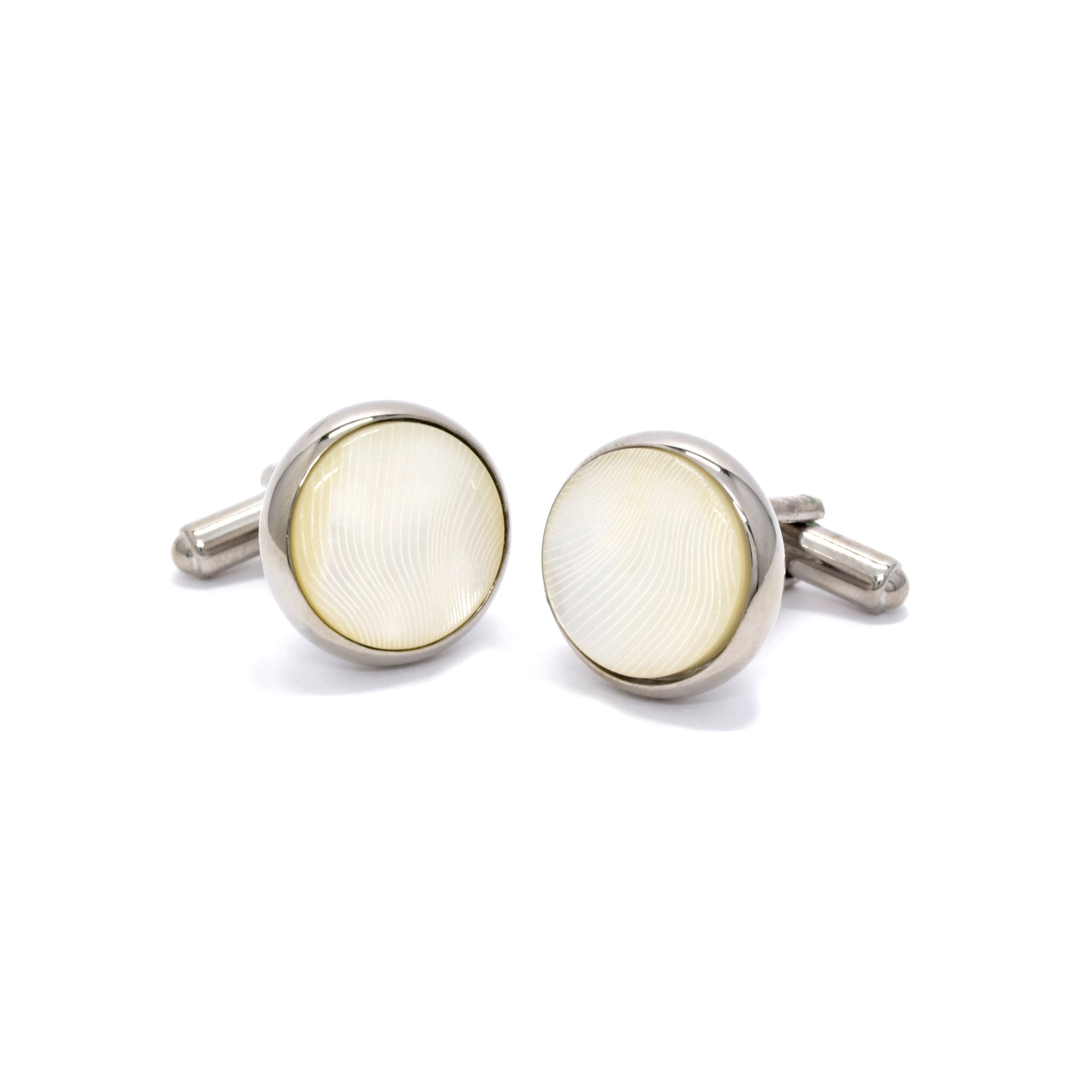 Lloyd Cufflinks with Mother of Pearl - Giorgio Mandelli® Official Site | GIORGIO MANDELLI Made in Italy