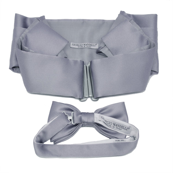 Cummerbund and Bow Tie Set in Fossil Grey - Giorgio Mandelli® Official Site | GIORGIO MANDELLI Made in Italy