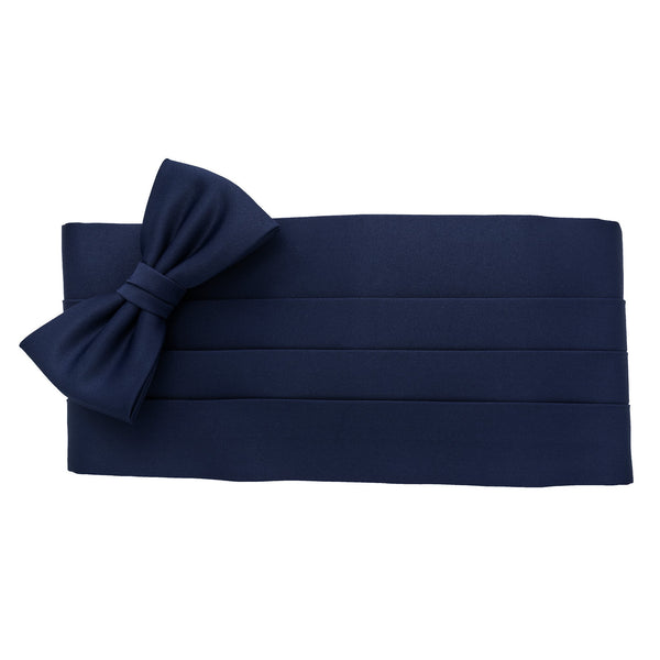 Cummerbund and Bow Tie Set in Navy Blue - Giorgio Mandelli® Official Site | GIORGIO MANDELLI Made in Italy
