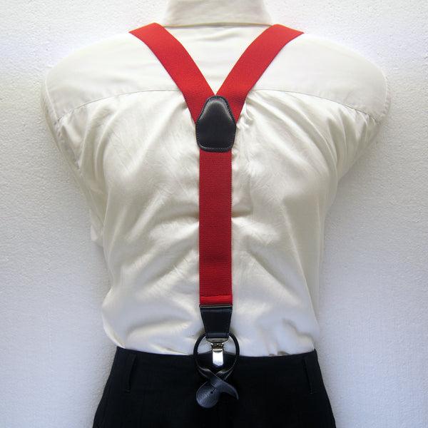 MISSOURI Theo Suspenders in Ferrari Red - Giorgio Mandelli® Official Site | GIORGIO MANDELLI Made in Italy