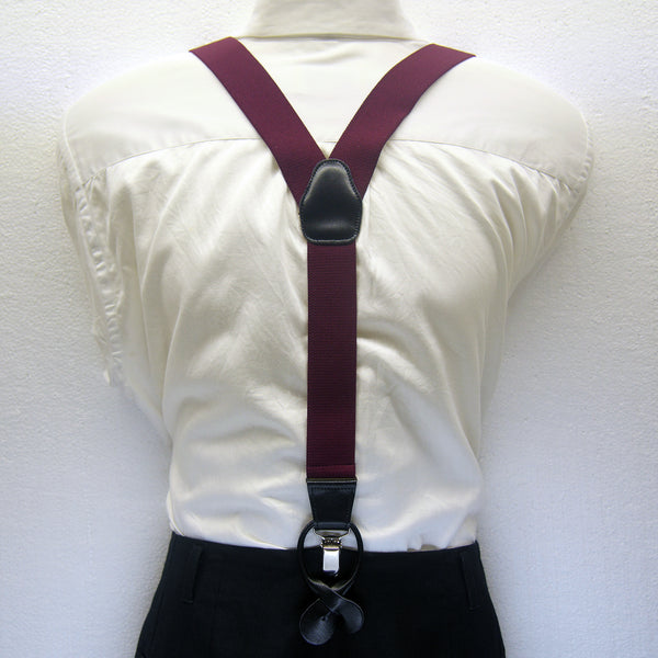 MISSOURI Theo Suspenders in Burgundy Red - Giorgio Mandelli® Official Site | GIORGIO MANDELLI Made in Italy