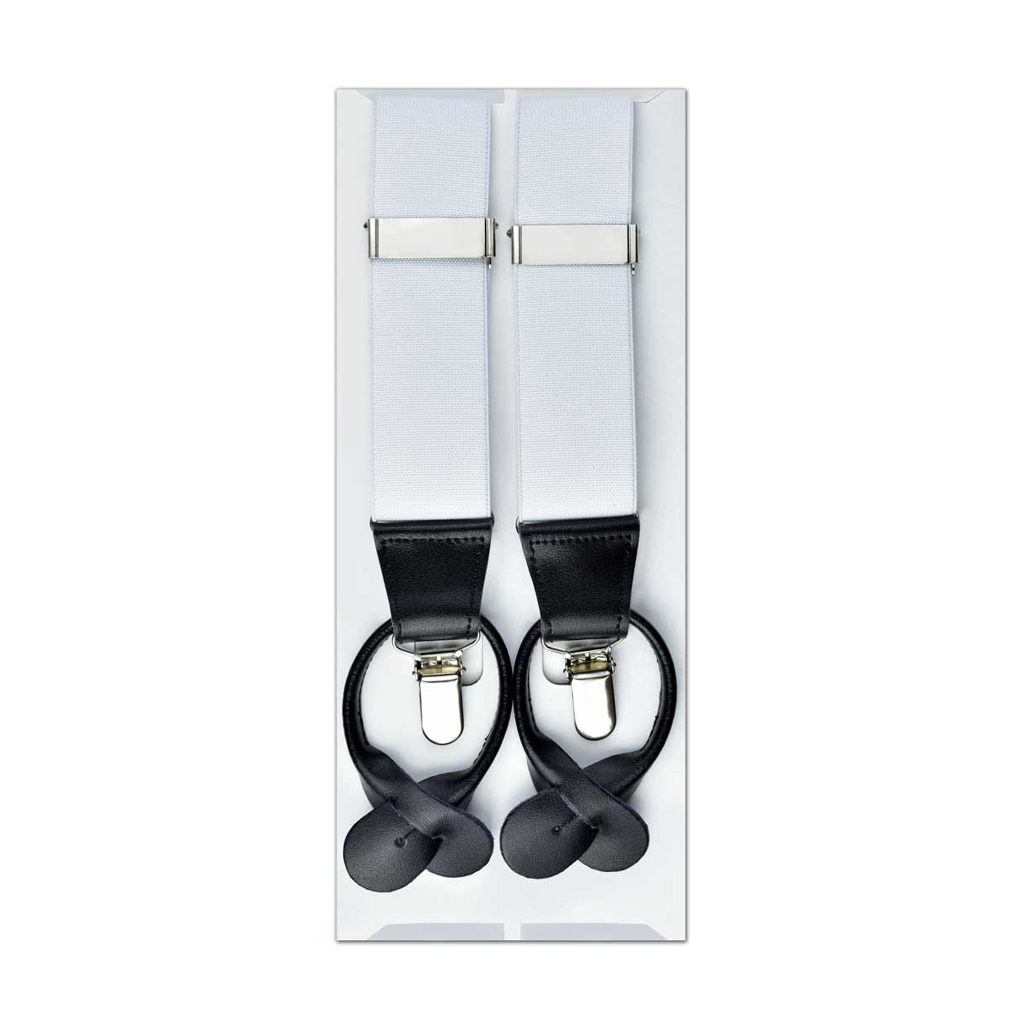 MISSOURI Theo Suspenders in Snow White - Giorgio Mandelli® Official Site | GIORGIO MANDELLI Made in Italy