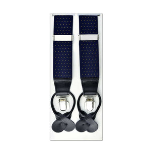 MISSOURI Levi Suspenders in Midnight Blue & Gold - Giorgio Mandelli® Official Site | GIORGIO MANDELLI Made in Italy