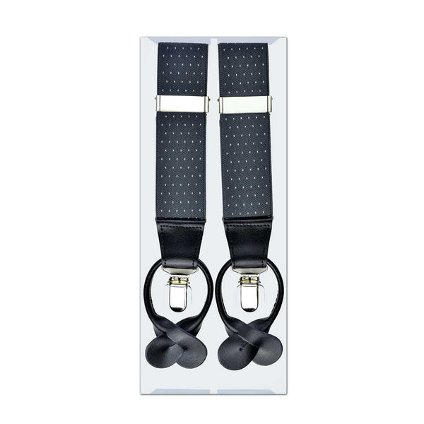 MISSOURI Levi Suspenders in Grey & White - Giorgio Mandelli® Official Site | GIORGIO MANDELLI Made in Italy