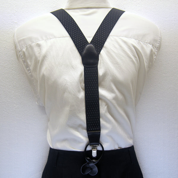MISSOURI Levi Suspenders in Black & White - Giorgio Mandelli® Official Site | GIORGIO MANDELLI Made in Italy