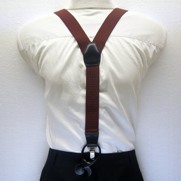 MISSOURI Holden Suspenders in Orange & Burgundy Red - Giorgio Mandelli® Official Site | GIORGIO MANDELLI Made in Italy