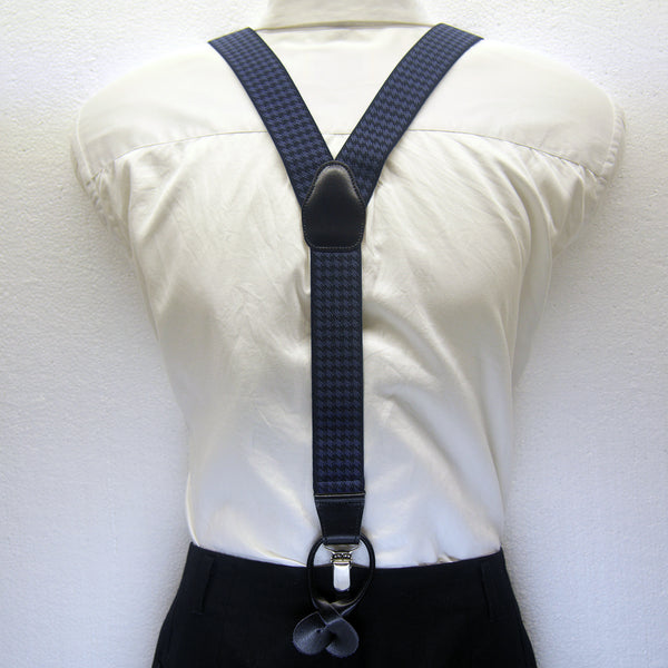 MISSOURI Hudson Suspenders in Black & Royal Blue - Giorgio Mandelli® Official Site | GIORGIO MANDELLI Made in Italy