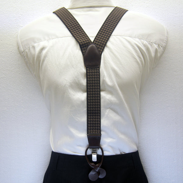 MISSOURI Hudson Suspenders in Coffee & Tan - Giorgio Mandelli® Official Site | GIORGIO MANDELLI Made in Italy