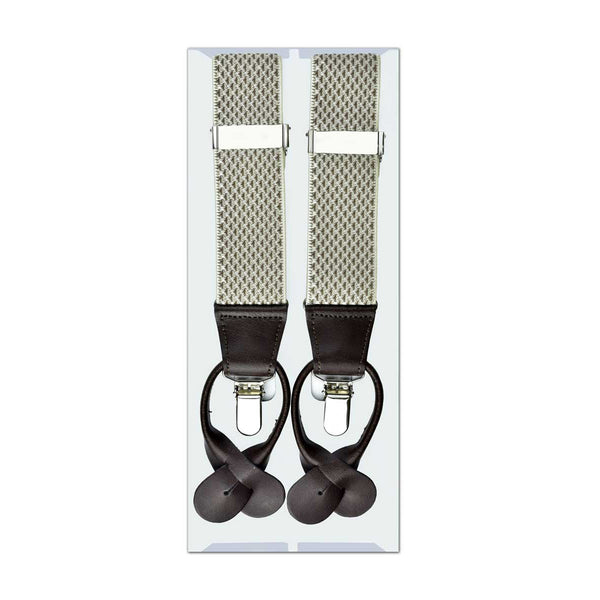 MISSOURI Brad Suspenders in Cream & Gold - Giorgio Mandelli